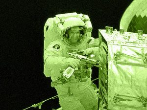 Astronaut Using Tools